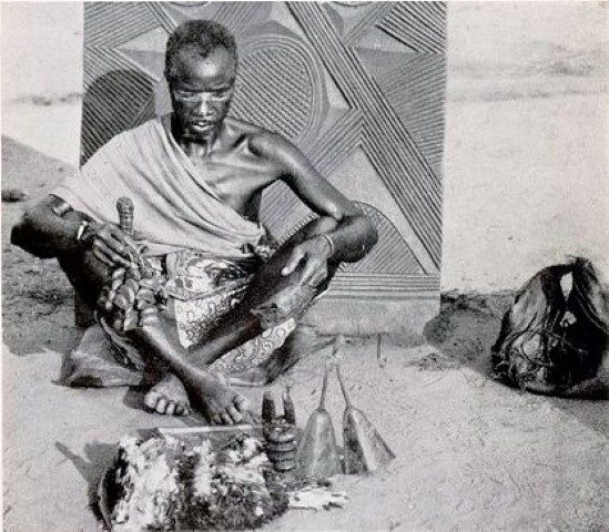 A medicine man of the Igbo tribe, an African ethnic group in Nigeria.