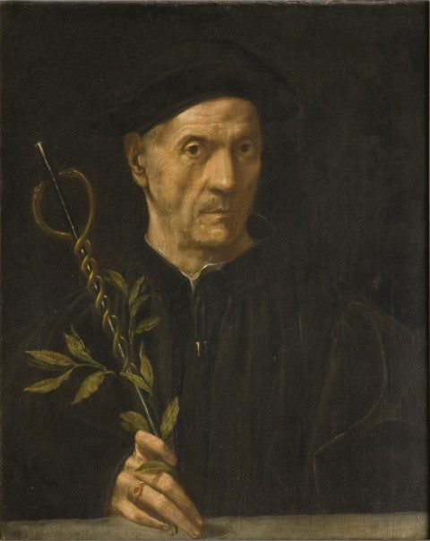 portrait of an elderly physician