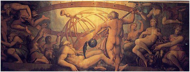 The castration of Uranus_Vasari and Gherardi