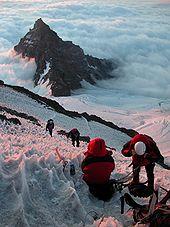 Climbers on Mt. Rainier