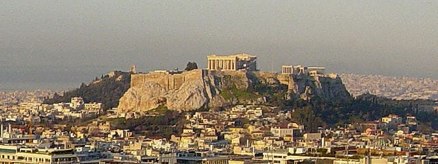 The acropolis in Greece at dawn. Link to the Antiquity section.