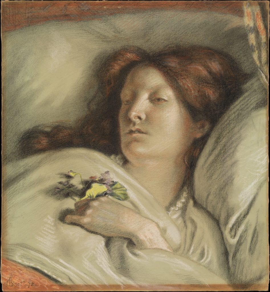 The Convalescent (A Portrait of the Artist's Wife). Ford Madox Brown.