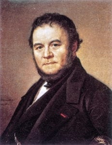 Link to the article. Portrait of the author known as Stendhal.