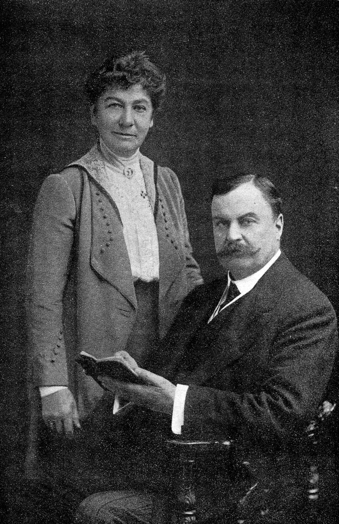 Portrait of Sir David Bruce with Lady Bruce