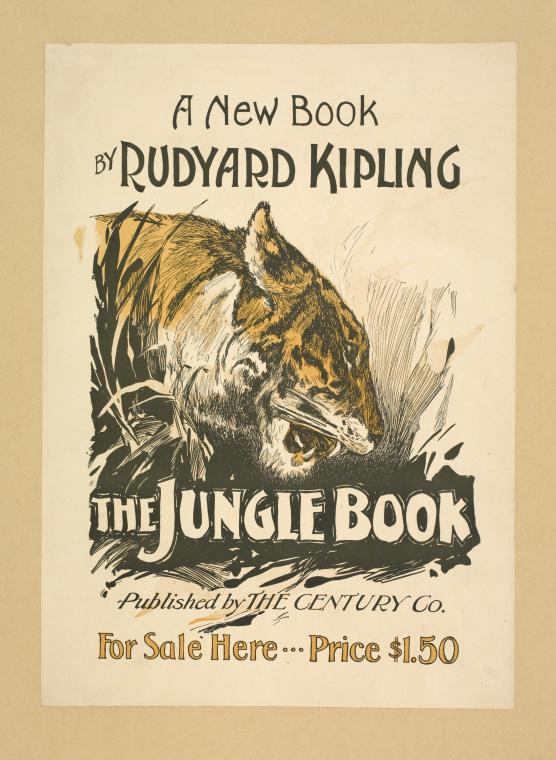 Poster advertising the Jungle book by Rudyard Kipling
