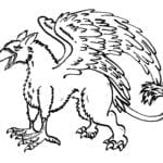 Illustration of a griffin, alchemical symbol for the stone
