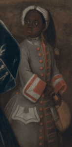 Detail of Elihu Yale; William Cavendish, the second Duke of Devonshire; Lord James Cavendish; Mr. Tunstal; and an Enslaved Servant