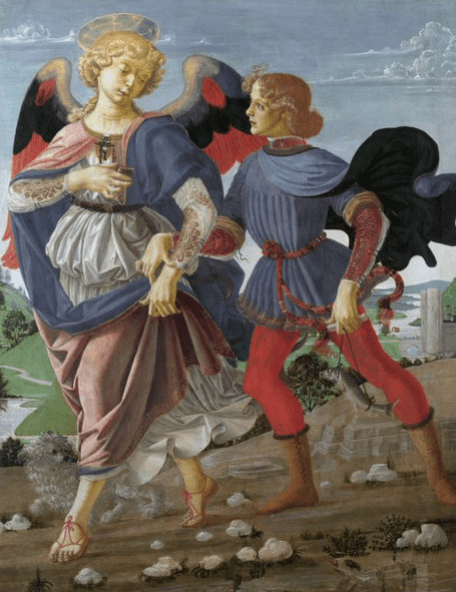 Tobias and the Angel. Workshop of Andrea del Verrocchio