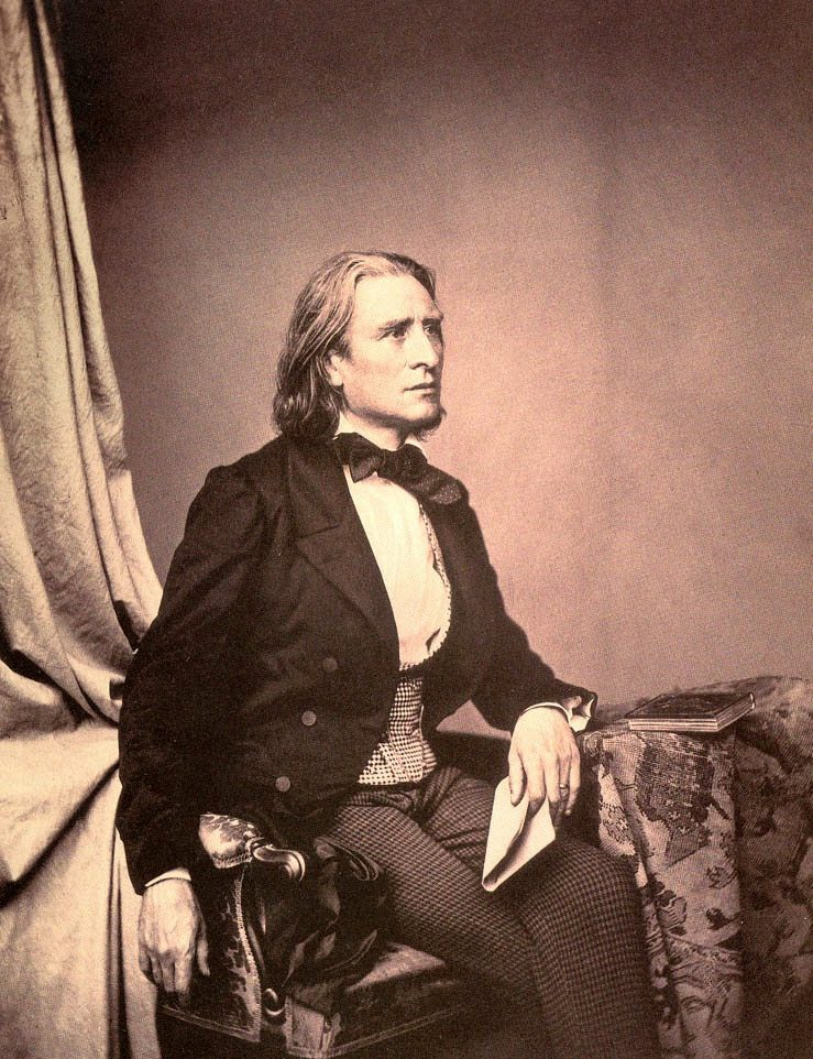 Photo of composer and pianist Franz Liszt
